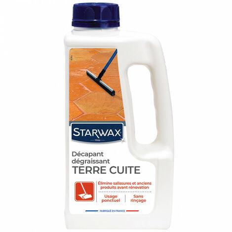 Décapant avant protection pour tomettes et terres cuites 1L Starwax