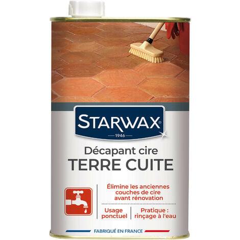 Décapant cire avant rénovation pour tomettes et terres cuites 1L STARWAX