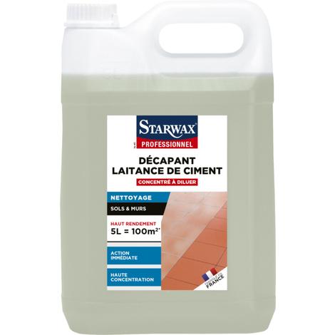 Décapant concentré laitance de ciment STARWAX sol carrelé - bidon 5L - 5035