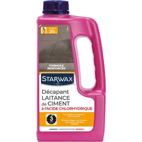 Décapant laitance de ciment pour sols carrelés STARWAX - plusieurs modèles disponibles