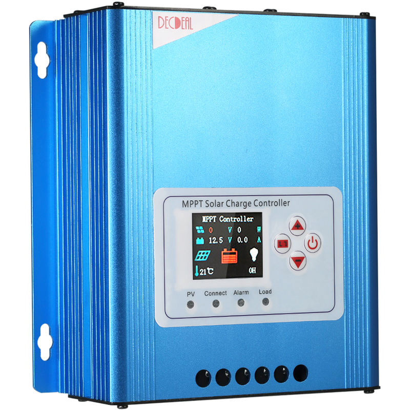 Image of Decdeal 30A MPPT Solar Charge Controller 12V/24V/48V Battery Charging Regulator with LCD Display Overload Protection Data Record