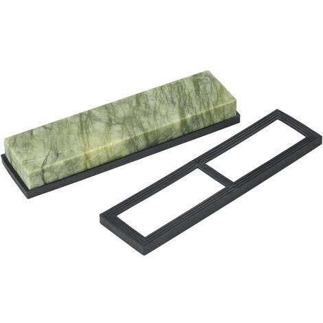 Decdeal 8 * 2 * 1 pulgadas Piedra de afilar de cuchillos Piedra de afilar de grano 10000, para pulido de cuchillos 200 * 50 * 25 mm