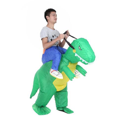 Decdeal mignon dinosaure gonflable vetements aire de jeux cosplay costume accessoires FZ1555 (adulte)