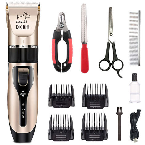 decdeal Pets Electric Clipper Dog Trimmer USB Rechargeable Low Noise Powerful Motor