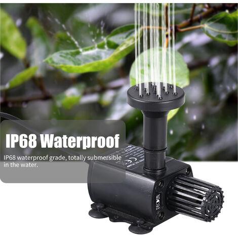 DECDEAL Pompe a eau USB avec couvercle de filtre + buse QR50R + buse