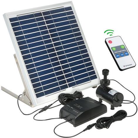 Decdeal solaire Fontaine 15W Panneau solaire + 3.6W brushless Kit pompe a eau