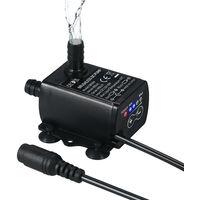 Decdeal ultra-silencieux Mini DC12V 10W 400L / H 400cm Lift pompe brushless eau 5.5 * 2.1mm