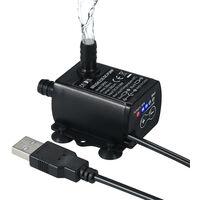 Decdeal ultra-silencieux Mini USB DC5V 4.8W 300L / H 300cm Lift brushless Pompe a eau