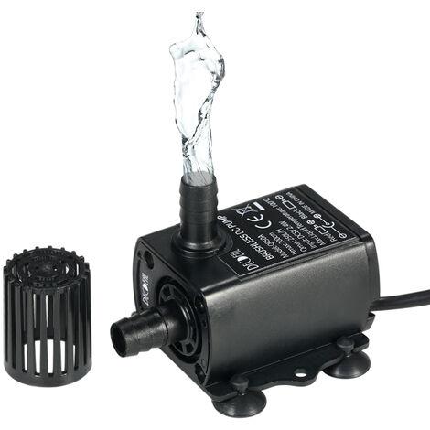 Decdeal USB DC5V2.4 W ultra-silencieux Pompe submersible brushless eau Fontaine Aquarium 250L Circulant/H 200cm Lift