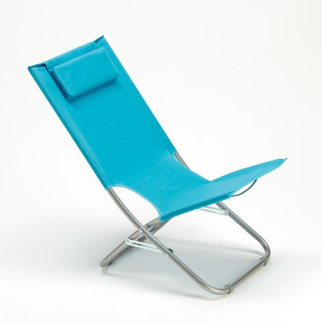 Deck chair made of steel with built in cushion for the beach garden patio RODEO LUX