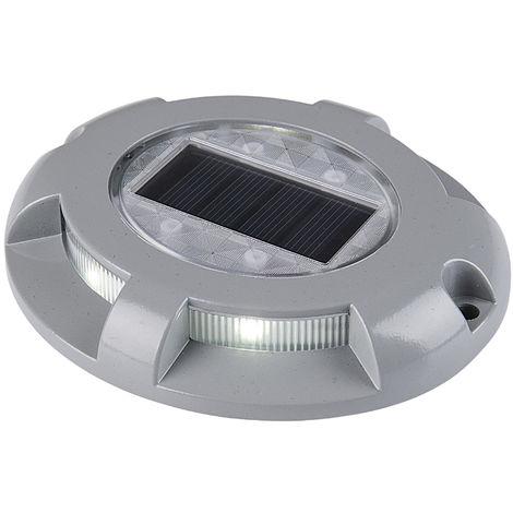 Deck Solaire Allume 4 Led Aluminium etanche, Blanc