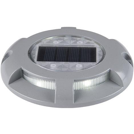 Deck Solaire Allume 4 Led Aluminium etanche, Blanc Chaud