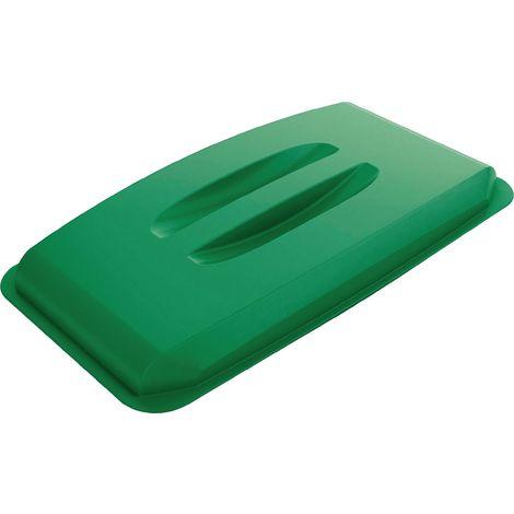 Deckel für Wertstoffsammler 60l grün m.Griffen B555xT285mm