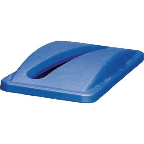 Deckel für Wertstoffsammler blau f.Papiereinwurf H70xB290xT520mm