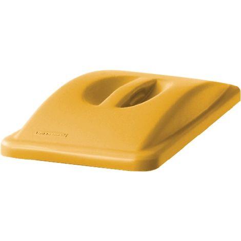 Deckel PE gelb B290xT520mm Wertstoffsammler 60l m.Griff RUBBERMAID