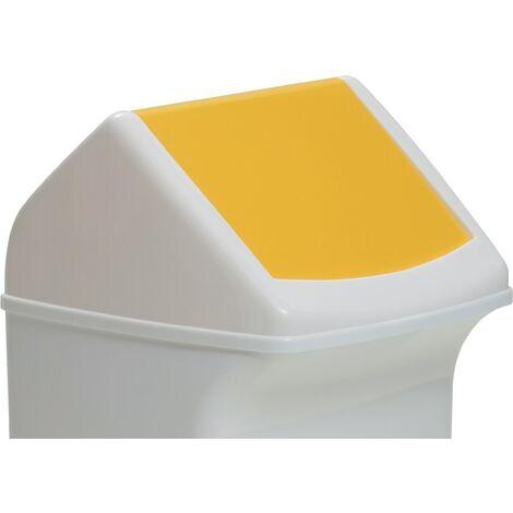 Deckel PE gelb f.Abfallsammler 40l m.Einwurfklappe DURABLE