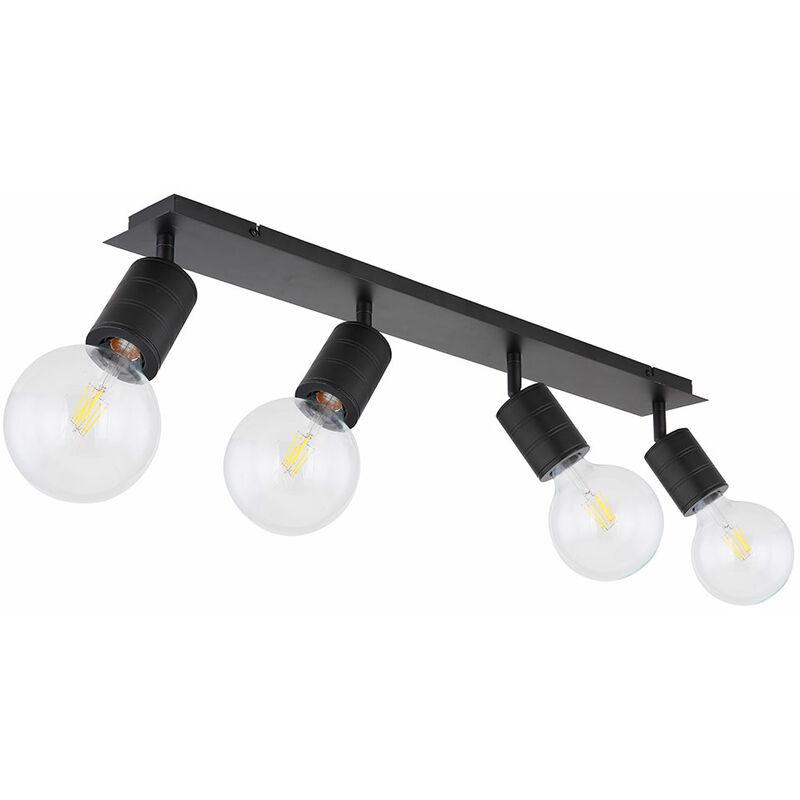 Decken Strahler Leuchte schwarz Wohn Ess Zimmer Beleuchtung Spot Lampe verstellbar Globo 54030-4