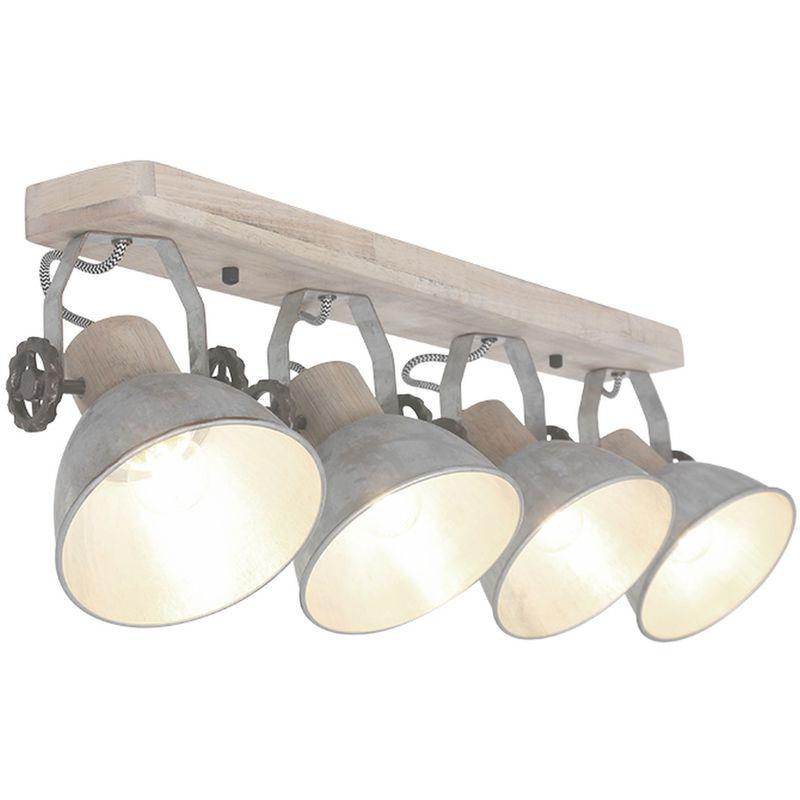 Deckenleuchte 4er Spot 3519121 Silber Lampe Vintage - Peters-living