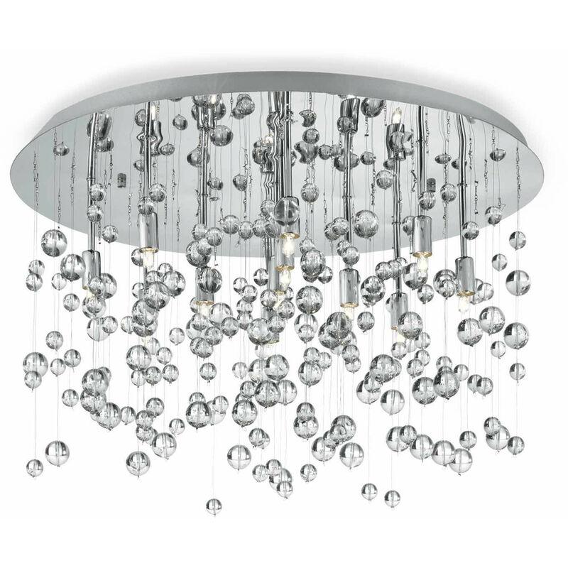 01-ideal Lux - Deckenleuchte Chrom NEVE 8 Glühbirnen