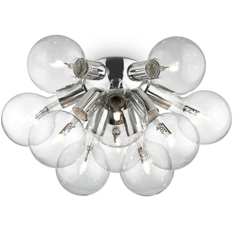 Click-licht.de - Deckenleuchte Dea aus Glas und Metall in Chrom 10xE27