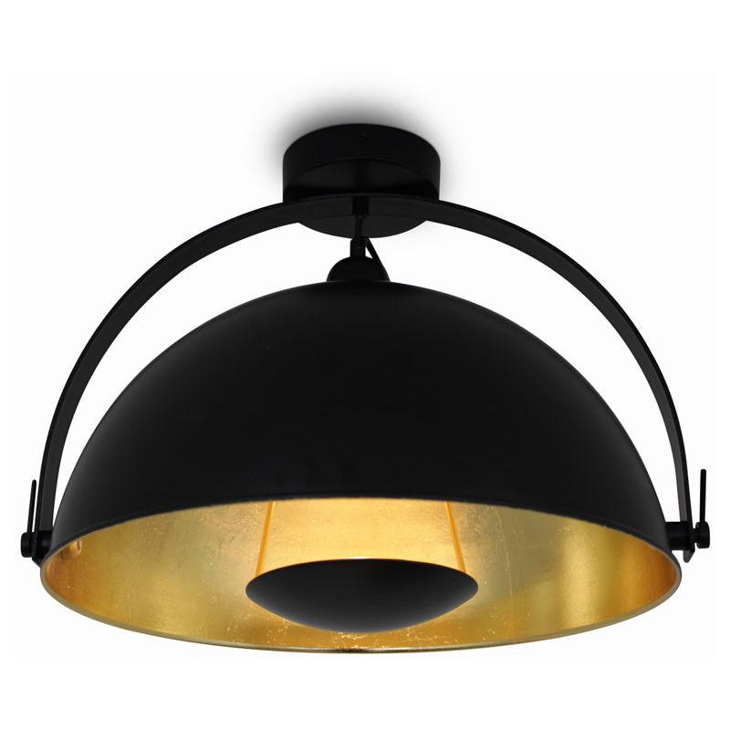 Kiom - Deckenleuchte Deckenlampe Alona Ceil Retro Style schwarz & gold Ø 45cm 10685