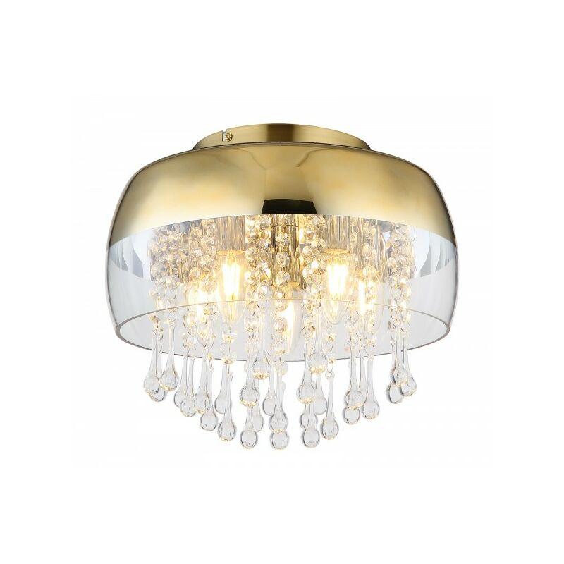 GLOBO Deckenleuchte Deckenlampe gold Glaskristalle 5-flammig 15838D-'68267020'