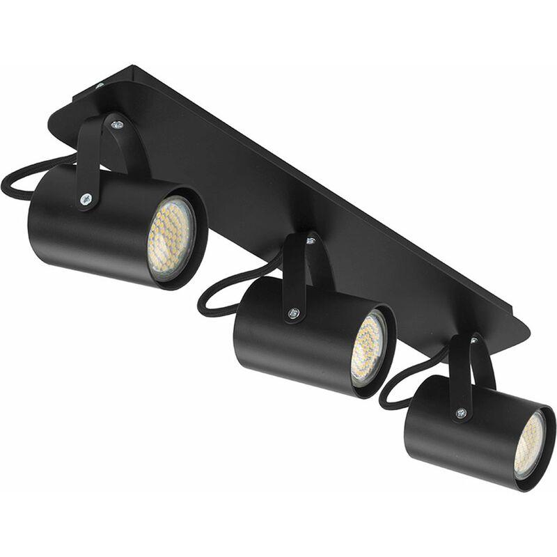 Deckenleuchte Schwarz verstellbar 3 flmg Strahler - LICHT-ERLEBNISSE