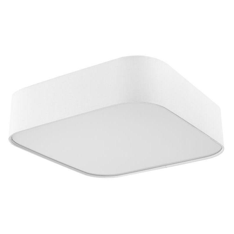 Deckenleuchte Sorpetaler Stoff weiß Deckenlampe LED eckig 60 x 60 cm