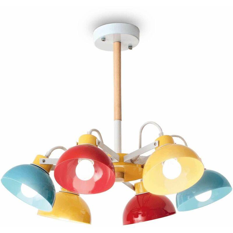 01-ideal Lux - Mehrfarbige TITTI Deckenleuchte 6 Lampen