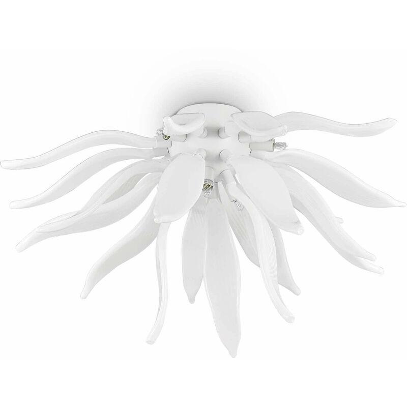 Deckenleuchte Weiß VERLÄSST 6 Glühbirnen - 01-IDEAL LUX