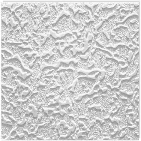 1 qm Platten Deckenplatten Dekorpaneel Styroporfliesen Decke EPS 50x50cm Flora