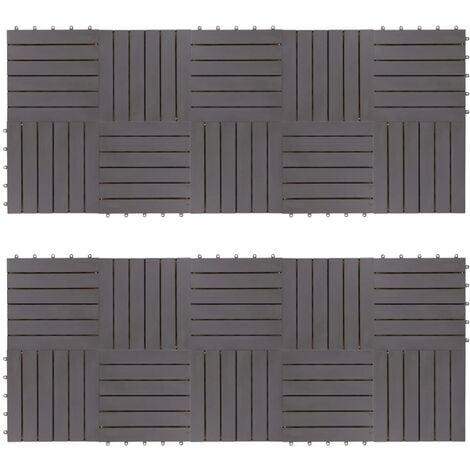 Decking Tiles 20 pcs Grey Wash 30x30 cm Solid Acacia Wood
