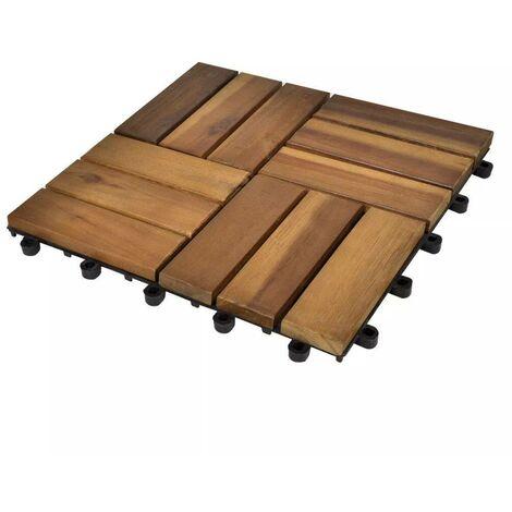 Decking Tiles 30 x 30 cm Acacia Set of 20