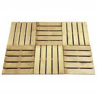 Decking Tiles 6 pcs 50x50 cm FSC Wood Green