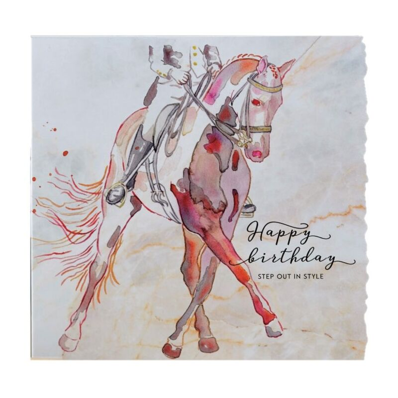 Image of Fanciful Dolomite Birthday Card (One Size) (Multicoloured) - Deckled Edge