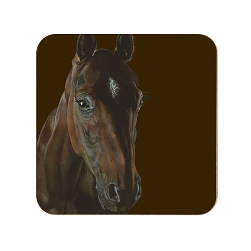 Image of The Chestnut Coaster Set (Pack of 6) (One Size) (Dark Brown) - Deckled Edge