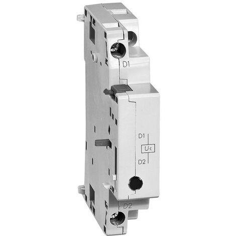 Déclencheur à minimum de tension avec 2 contacts auxiliaires NO pour disjoncteur moteur MPX 110V 50Hz (417431)