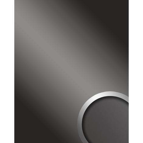 DECO FASHION Panneau mural autoadhésif WallFace 13810 Décoration Miroir Aspect brillant Revêtement mural gris 2,60 m2