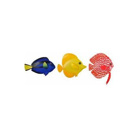 Deco fluo poissons d'ornement ass