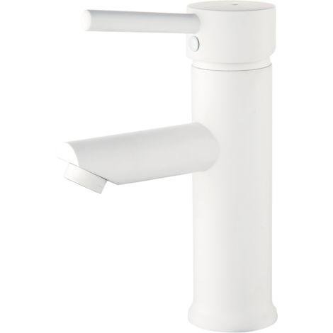 Deco mitigeur lavabo bas blanc - Blanc
