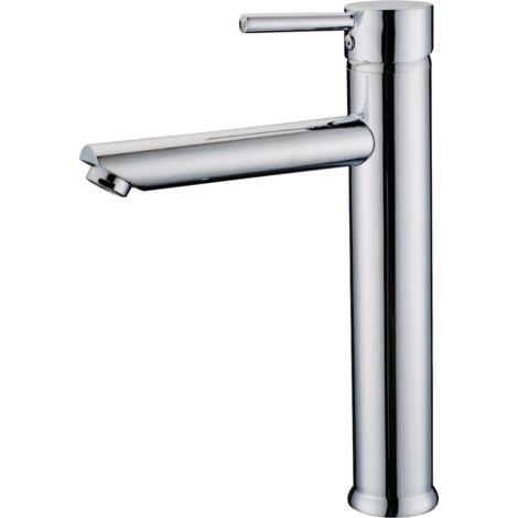 Deco mitigeur lavabo haut chromé - Chromé