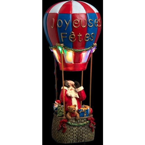Déco Noël ballon en Laponie piles lumineux animé - Multicolore