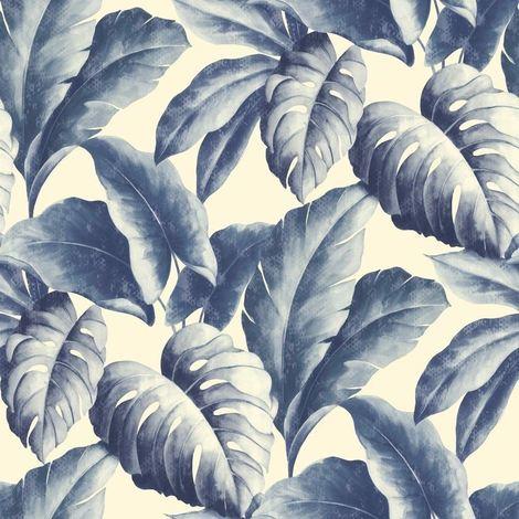 Deco4Walls Botanical Wallpaper Blue
