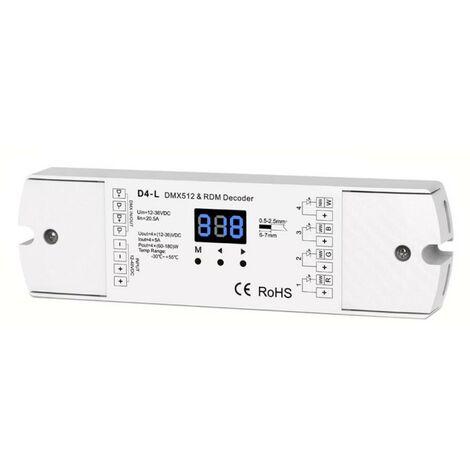 Decoder DMX512, 5-24VDC, 5A x 4Ch