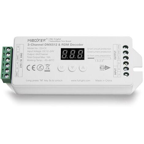 Decoder DMX512-RDM, RGB, 18A, 2.4Ghz RF