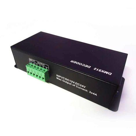 Decodificador DMX 4 canales DMX/RGB