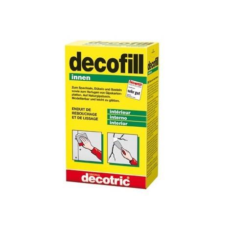 Decofill Enduit de rebouchage et de lissage 1 kg, intérieur decotric
