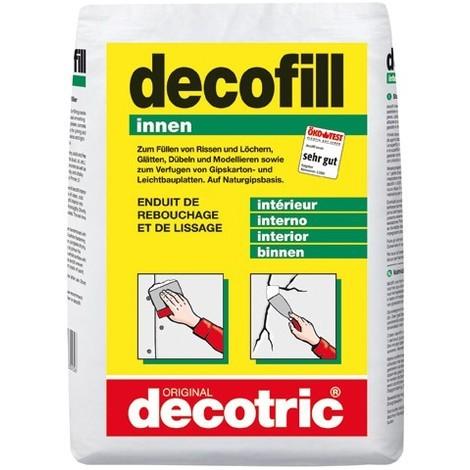 Decofill Enduit de rebouchage et de lissage 10kg Sack, intérieur decotric