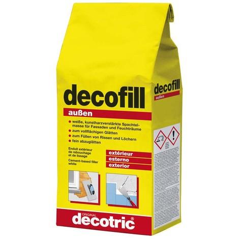Decofill Enduit de rebouchage et de lissage 1kg, extérieur decotric