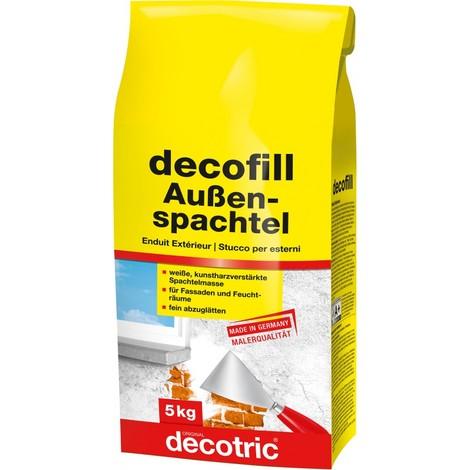 Decofill Enduit de rebouchage et de lissage 5 kg, extérieur decotric